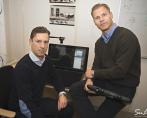 Redaktionell annonshalvsida i Dagens industri, Niklas rengfors och hans kollega Johan.